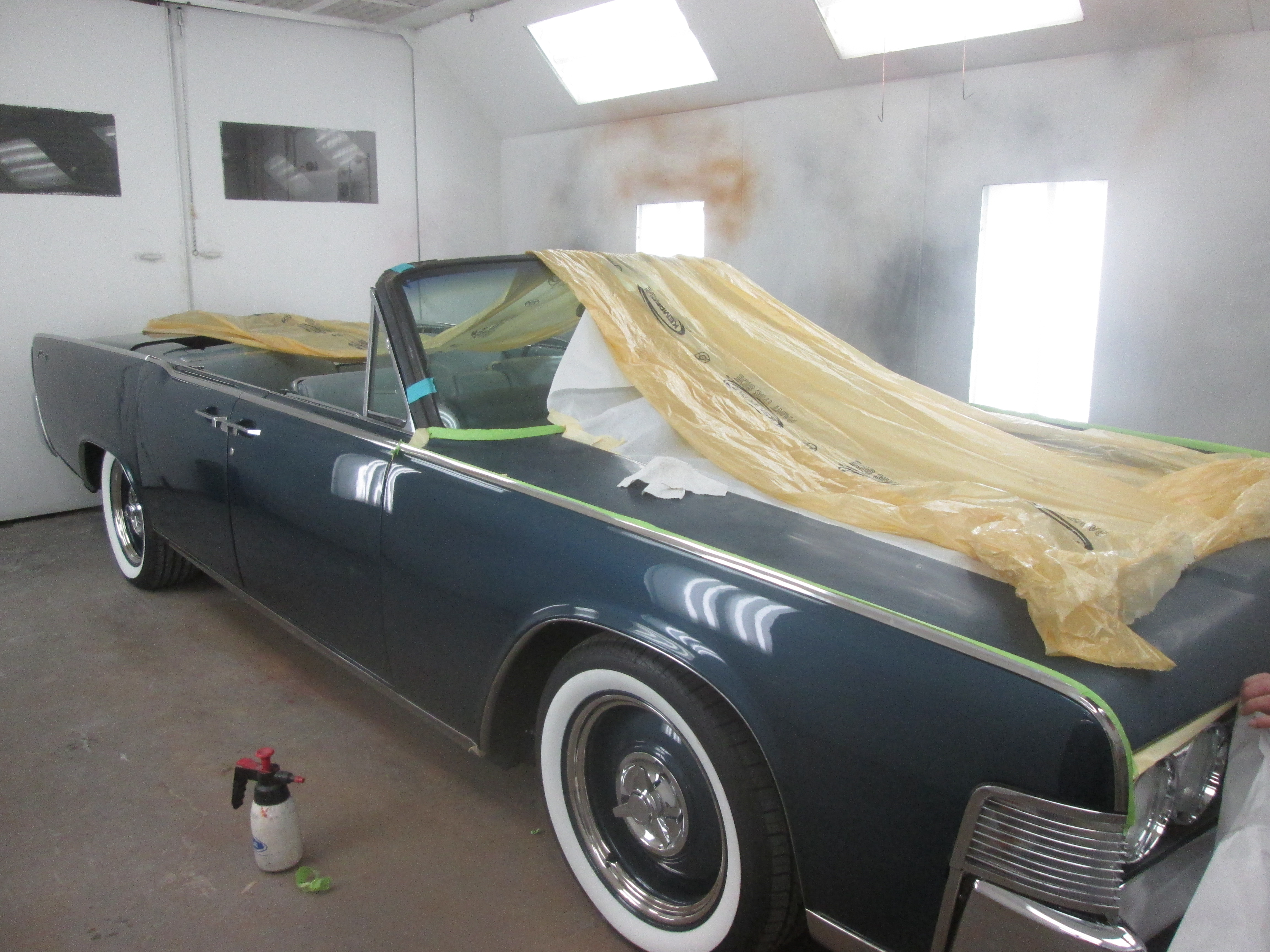 1965 lincoln continental convertible resto mod pauls rods and restos. Black Bedroom Furniture Sets. Home Design Ideas